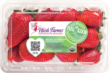 Image of Wish Farms Strawberry Organic Clamshell