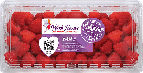 Image of Wish Farms Raspberry Clamshell