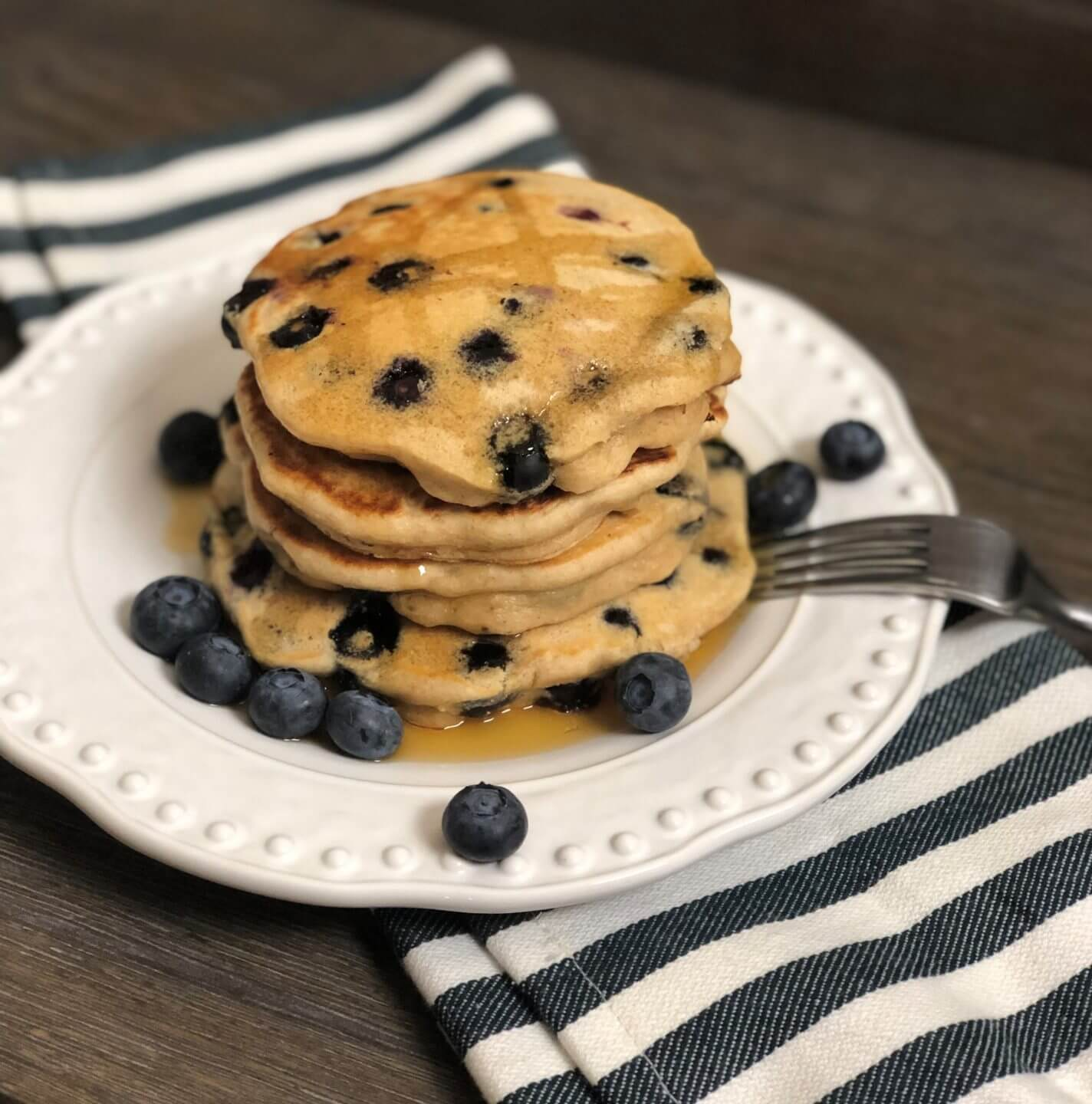 Fluffy Blueberry Pancakes Wish Farms Recipes