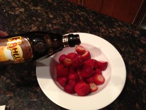 @wishfarms fresh strawberries and Kahlua Mocha