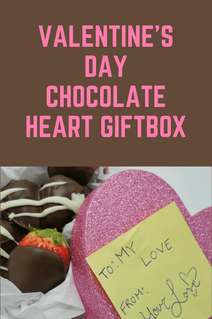 Valentines Day Chocolate Strawberry Gift Box