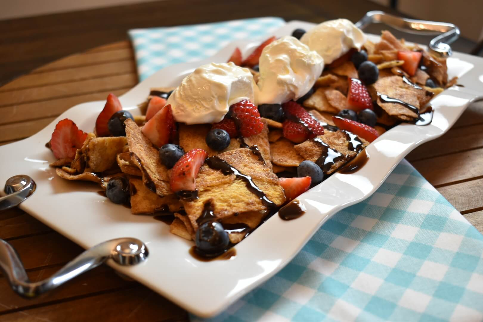 Gameday Dessert Nachos Recipe From Wish Farms Florida Berry Grower