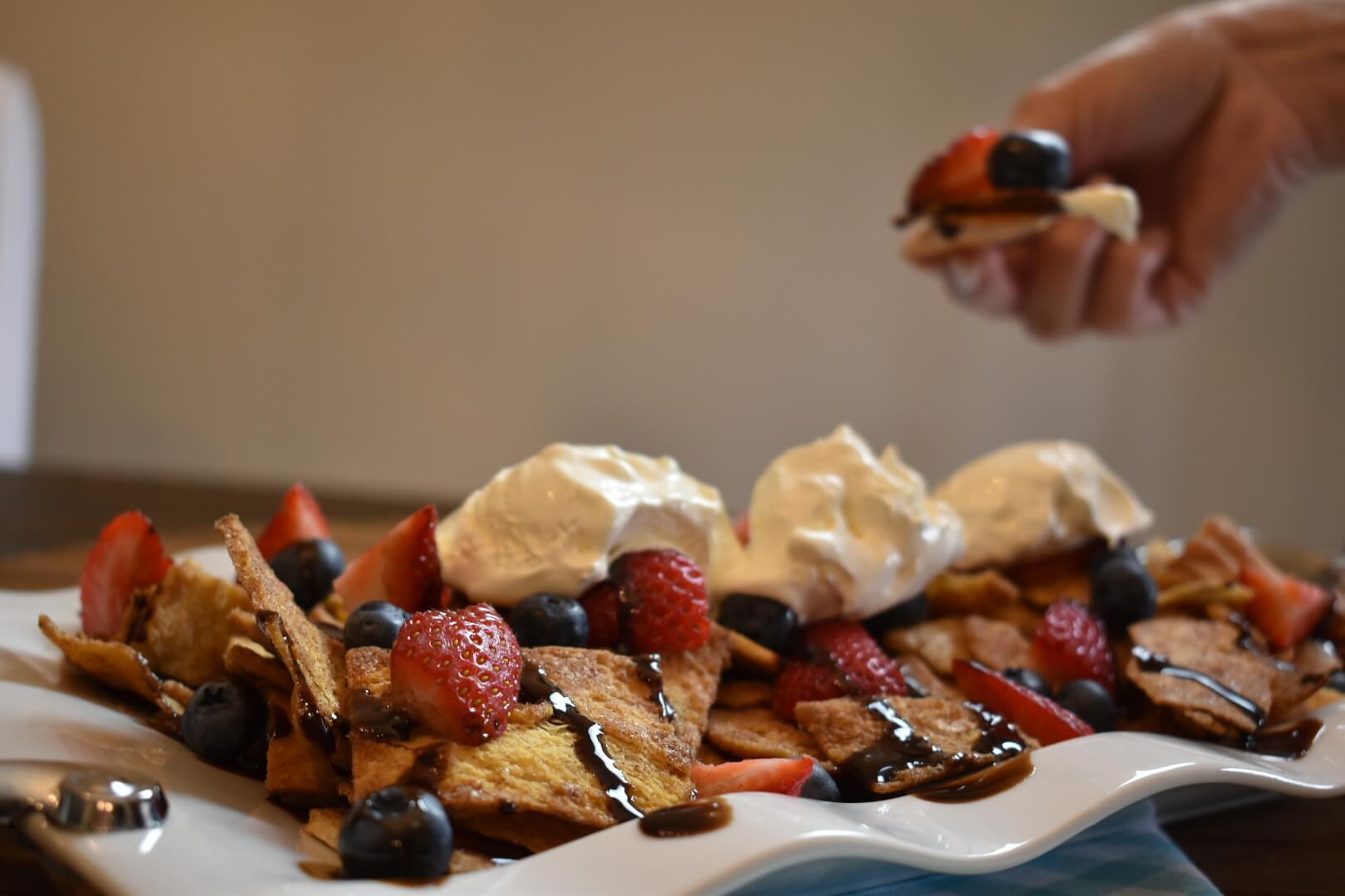 Gameday Dessert Nachos Recipes from Wish Farms Florida & California Berry Grower