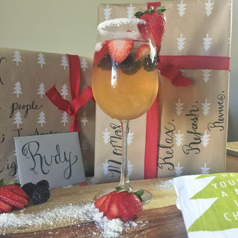 July 4 Berry Drink Sparkling Cream Spritzer