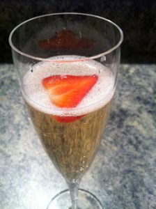 @wishfarms Strawberry & champage a perfect pair