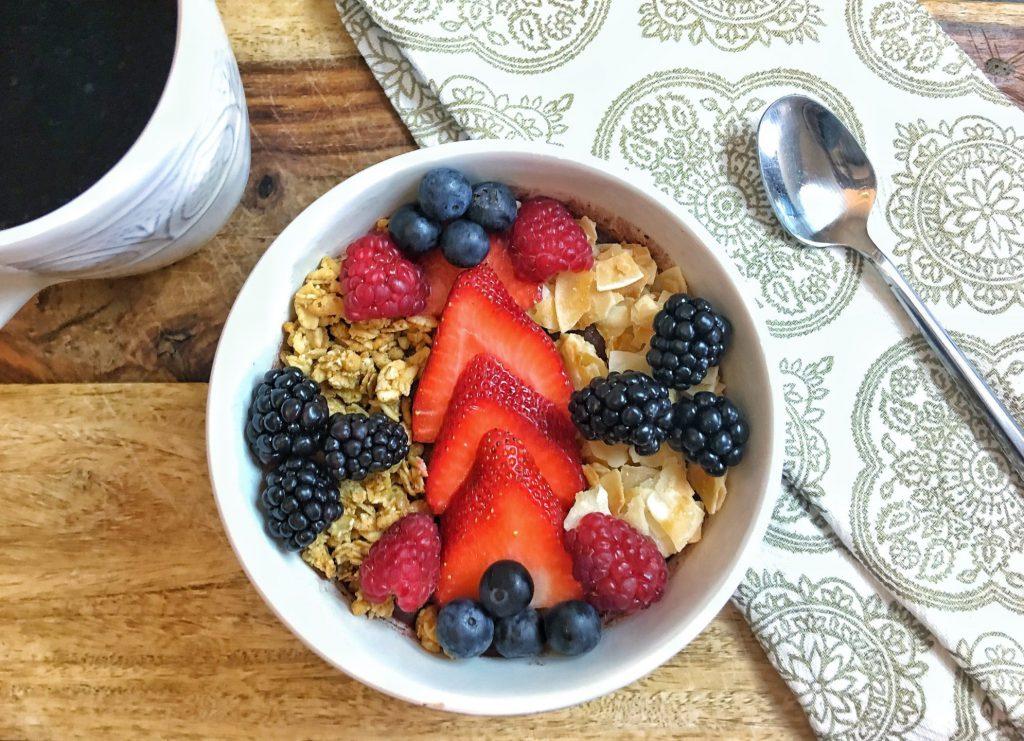 Four Berry Acai Bowl Healthy Recipe