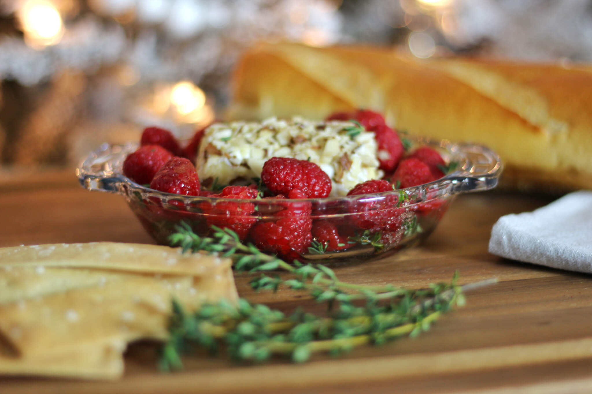 Raspberry Recipes Baked Goat Cheese and Balsamic Raspberry Dip