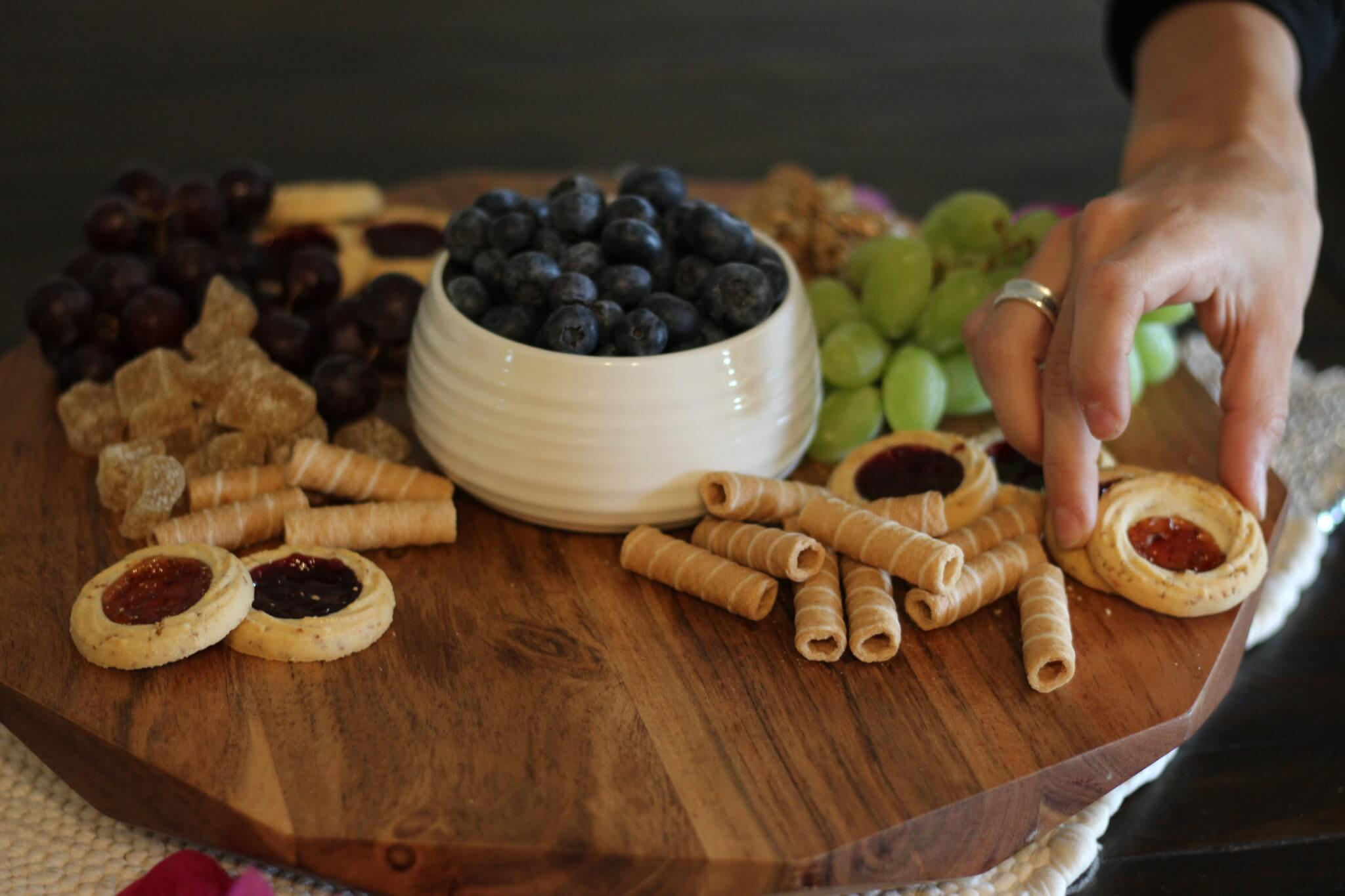 Wish Farms Blueberries with Party Pastries