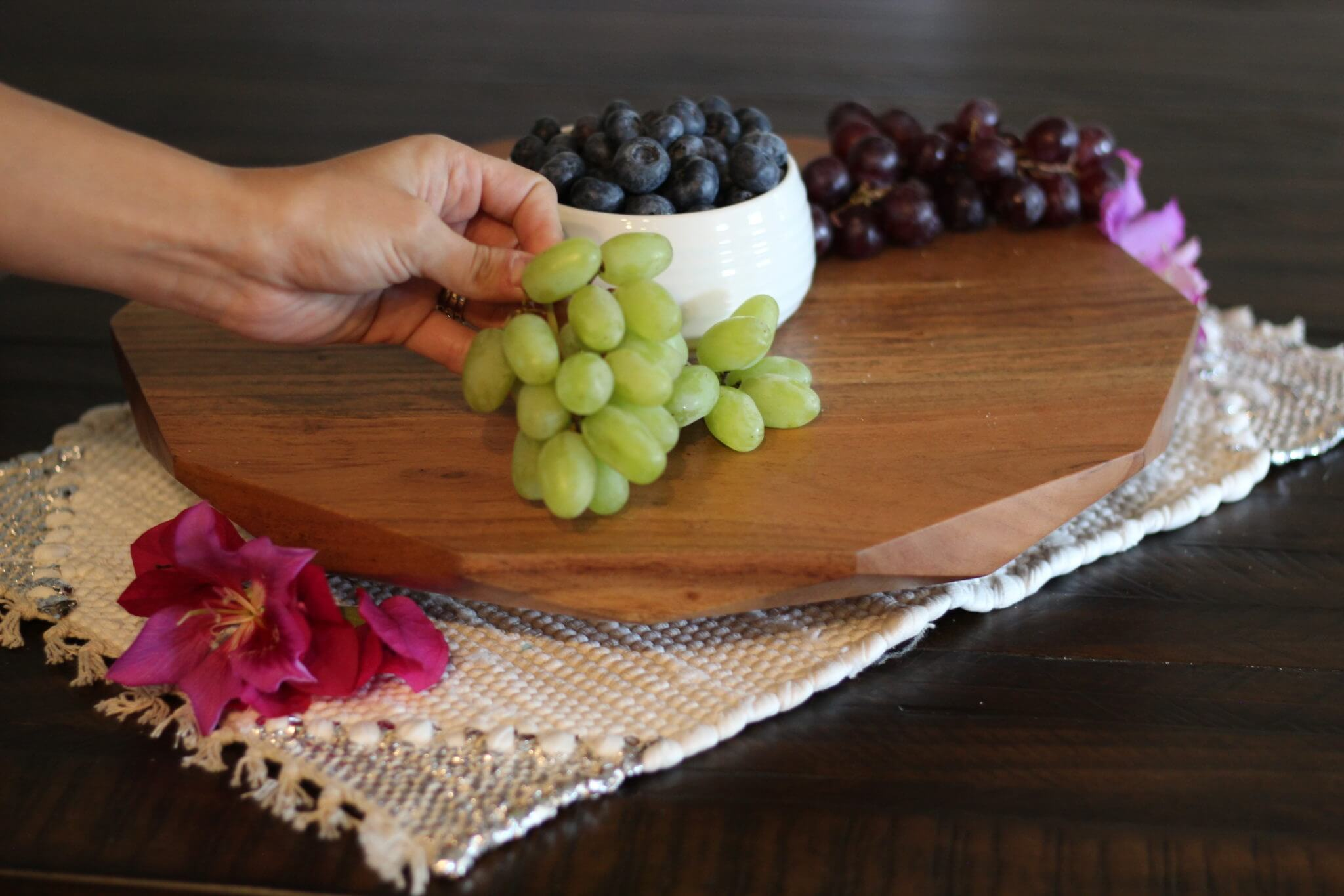 White and Red Grapes With Wish Farms Berries
