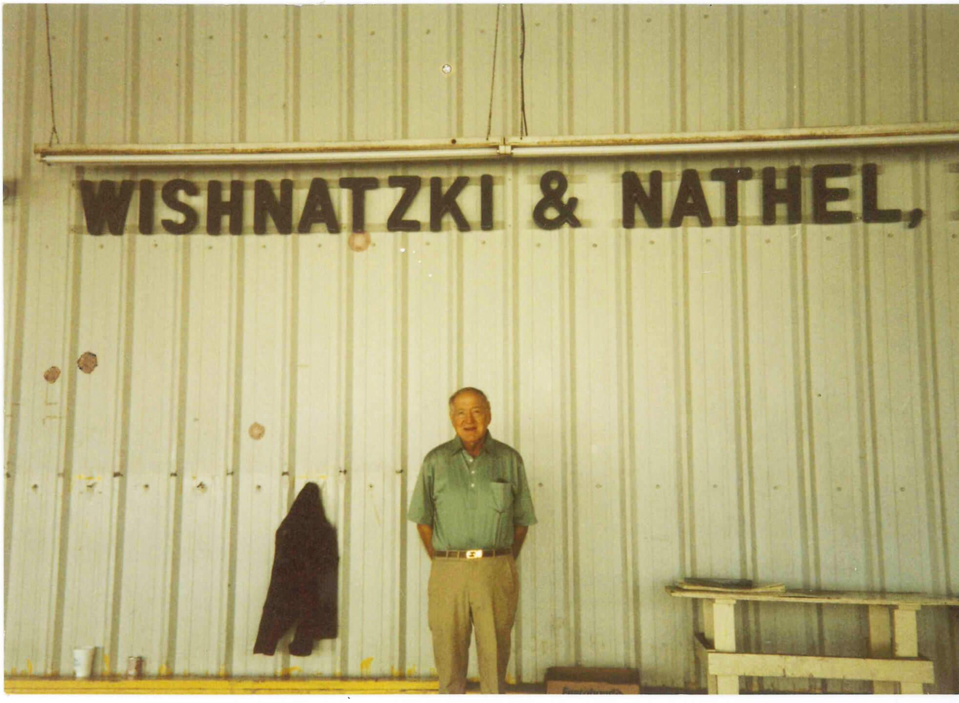 Lester Wishnatzki on the Wish Farms main office loading dock in Plant City, FL
