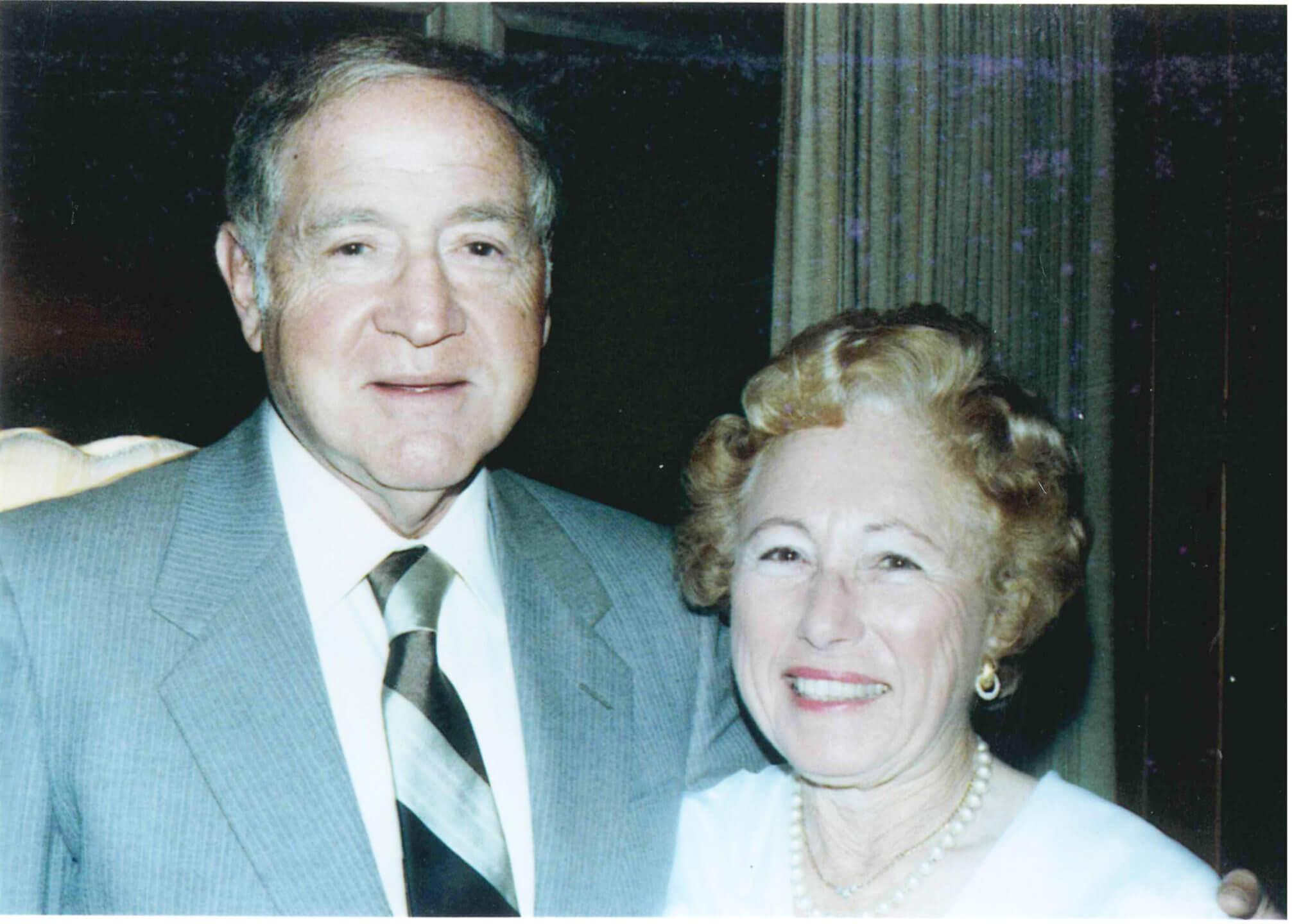 Lester Wishnatzki and his wife Selma