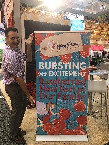 Wish Farms Raspberries Sign at PMA Fresh Summit