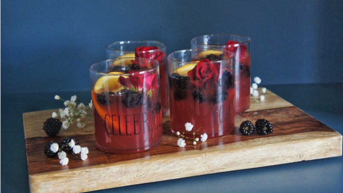 Blackberry Rum Punch