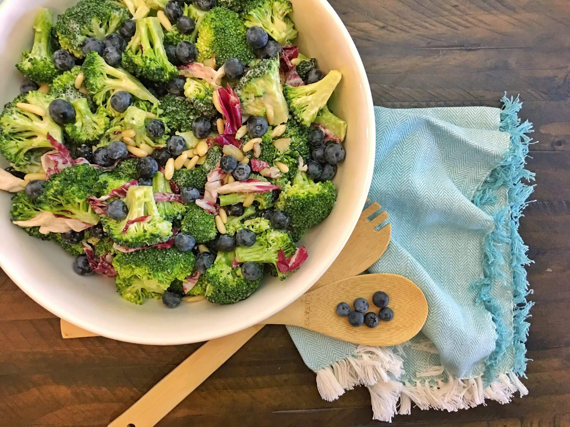 Wish Farms Healthy Blueberry Broccoli Salad
