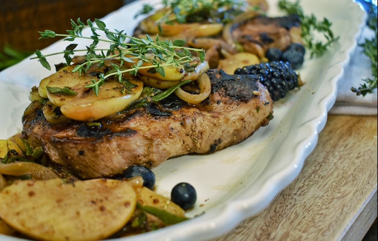 blueberry pork chops
